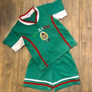 Other - Vintage Mexico Soccer Jersey and Shorts
